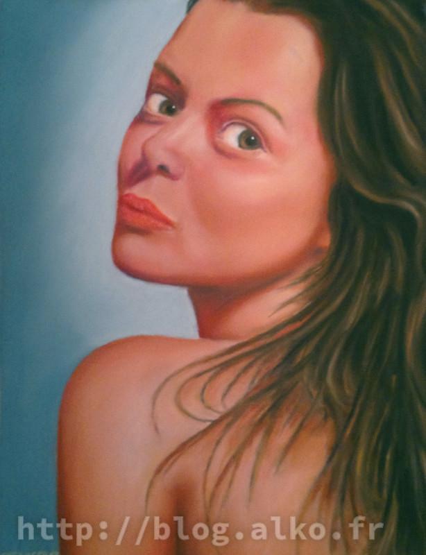 Pastel sec. Portrait.